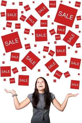 Woman Enjoying Sales by Petr Kratochvil